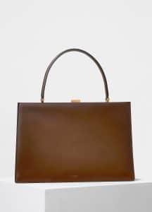 Celine Camel Medium Clasp Bag