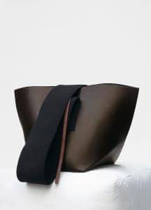 Celine Dark Brown Medium Black Belt Bag