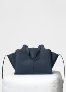 Celine Dark Sea Medium Tri-Fold Bag