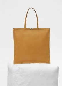 Celine Dark Yellow Medium Flat Tote Bag