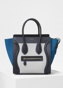 Celine Light Grey Multicolour Baby Grained Calfskin Micro Luggage Bag