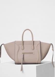 Celine Light Taupe Baby Grained Calfskin Medium Luggage Phantom Bag