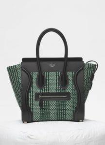 Celine Pop Green Textile Micro Luggage Bag