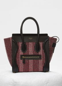 Celine Scarlet Textile Micro Luggage Bag