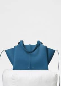 Celine Teal Blue Small Tri-Fold Bag