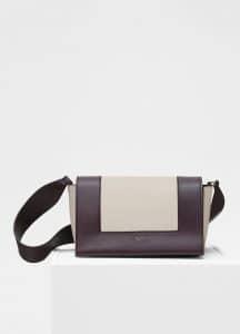 Celine Velvet/Desert Medium Frame Bag