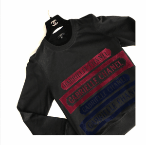 Chanel Black/Red Gabrielle Chanel Sweatshirt