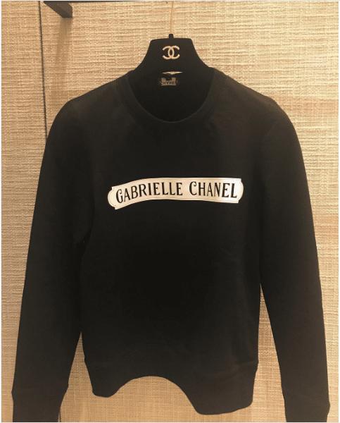 Chanel Black White Gabrielle Chanel Sweatshirt 2. IG  jujuinspirations db963e15f99