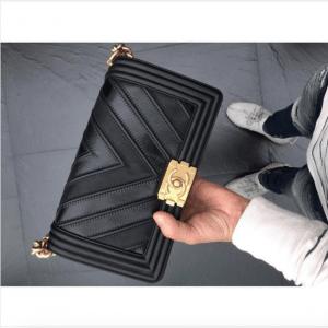Chanel Chevron Mix Leather Boy Bag 2