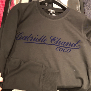 Chanel Gray/Blue Gabrielle Chanel Sweatshirt