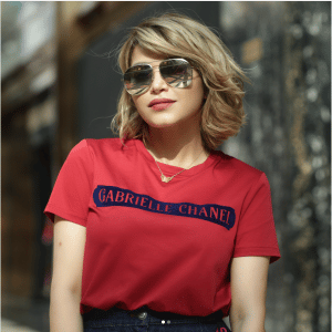 Chanel Red/Blue Gabrielle Chanel T-shirt