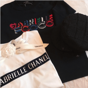 Chanel White and Black Gabrielle Chanel T-shirt and Sweatshirt