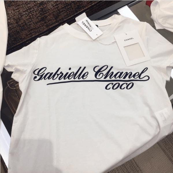 Chanel logo t shirt kamos t shirt for Chanel logo t shirt to buy