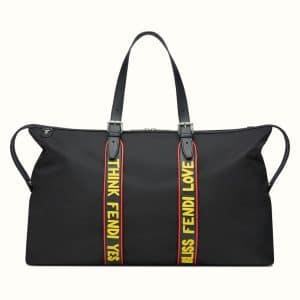 Fendi Black Think Duffel Bag
