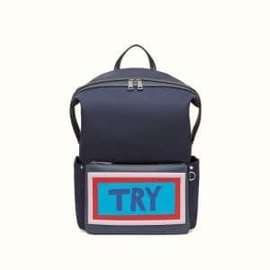 Fendi Black Try Backpack Bag