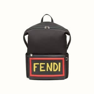 Fendi Black Vocabulary Nylon Backpack Bag