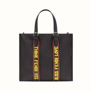 Fendi Black Vocabulary Nylon Tote Bag