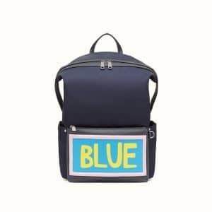 Fendi Blue Blue Nylon Backpack Bag