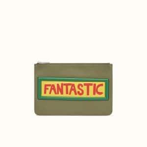 Fendi Green Fantastic Thin Pouch Bag