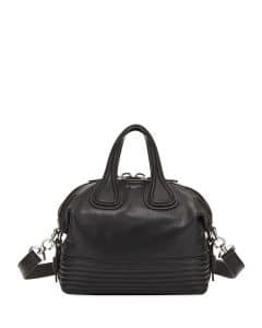 Givenchy Black Biker-Stitched Small Nightingale Bag