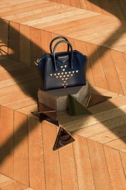 Givenchy Black Studded Small Antigona Bag
