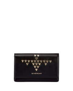 Givenchy Black Studded Pandora Wallet-on-a-Chain Bag