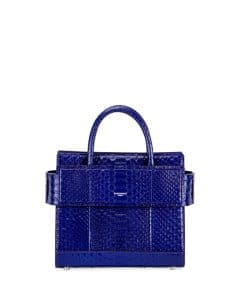 Givenchy Bright Blue Python Mini Horizon Bag