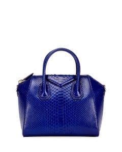 Givenchy Bright Blue Python Small Antigona Bag