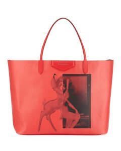 Givenchy Red Bambi Antigona Shopper Tote Bag