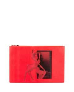 Givenchy Red Bambi Large Pouch Bag