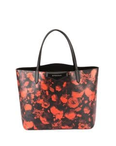 Givenchy Red Rose Print Antigona Large Shopper Tote Bag