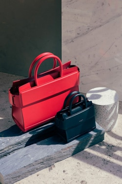 Givenchy Red and Black Medium and Nano Horizon Bags