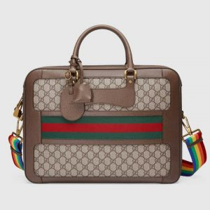 Gucci Beige/Ebony GG Supreme Web Briefcase Bag