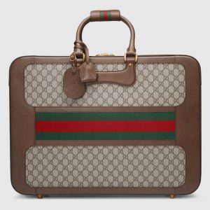 Gucci Beige/Ebony GG Supreme Web Large Briefcase Bag