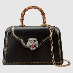 Gucci Black Frame Top Handle Bag