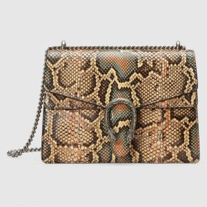 Gucci Multicolor Python Dionysus Medium Shoulder Bag
