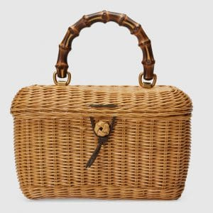 Gucci Natural Basket Top Handle Bag
