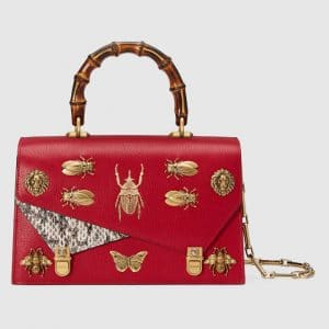 Gucci Red Ottilia Small Top Handle Bag