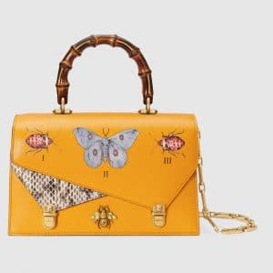 Gucci Yellow Ottilia Small Top Handle Bag