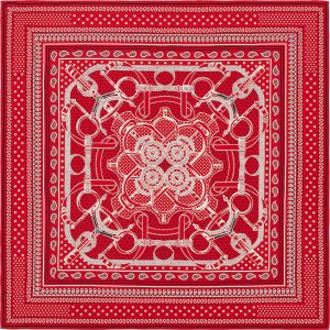Hermes Eperon d'Or Bandana Cashmere and Silk Shawl GM