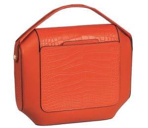 Hermes Red Crocodile Octogone Clutch Bag