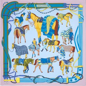 Hermes Ronds de Marche Silk Twill Scarf 90