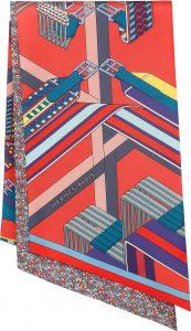 Hermes Sangles en Zigzag Fleuries Clic-Clac a Pois Maxi-Twilly Cut