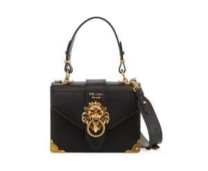 Prada Black Soft Leather New Antic Satchel Bag