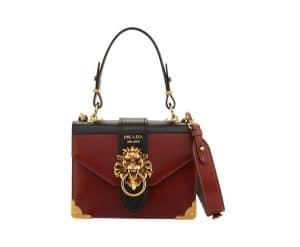 Prada Brown Soft Leather New Antic Satchel Bag