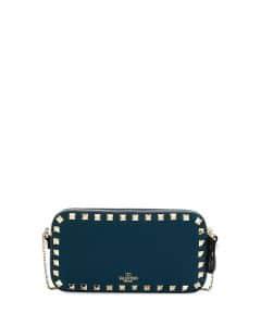 Valentino Blue Rockstud Small Chain Shoulder Bag