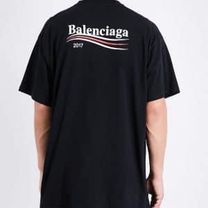 Balenciaga Black Balenciaga 2017 Logo Oversize Tshirt