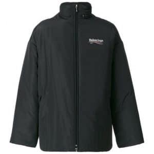 Balenciaga Black Balenciaga 2017 Logo Padded Jacket
