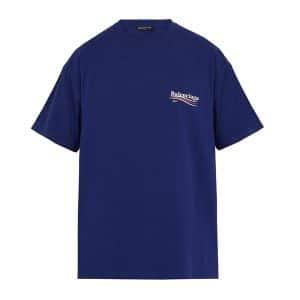 Balenciaga Blue Balenciaga 2017 Logo Oversize Tshirt