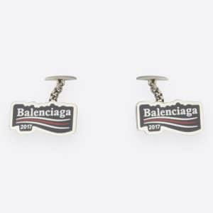 Balenciaga Blue/White/Red Balenciaga 2017 Logo Cufflinks